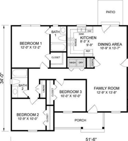 Mm s inc 108 pecan grove drive House floor plans without garage